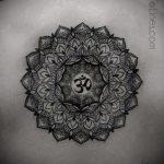 знак мандалы тату - фото пример готовой татуировки от 01052016 3