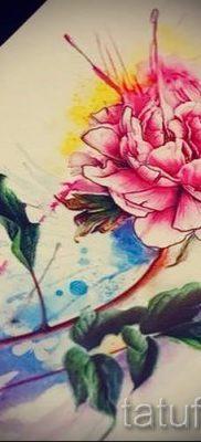 значение татуировки пион для девушек – фото пример татуировки от 15052016 5