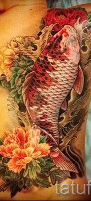 значение тату рыба и лотос – фото пример 2