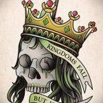 корона тату эскиз - рисунок для татуировки от 15052016 -1-1