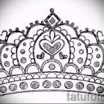 корона тату эскиз - рисунок для татуировки от 15052016 -1- 14