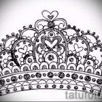 корона тату эскиз - рисунок для татуировки от 15052016 -1- 15
