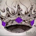 корона тату эскиз - рисунок для татуировки от 15052016 1