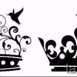корона тату эскиз - рисунок для татуировки от 15052016 -1- 3