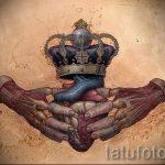 корона тату эскиз - рисунок для татуировки от 15052016 -1- 5