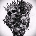 корона тату эскиз - рисунок для татуировки от 15052016 -1- 8