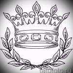 корона тату эскиз - рисунок для татуировки от 15052016 12