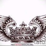 корона тату эскиз - рисунок для татуировки от 15052016 13