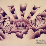 корона тату эскиз - рисунок для татуировки от 15052016 15