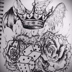 корона тату эскиз - рисунок для татуировки от 15052016 16