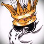корона тату эскиз - рисунок для татуировки от 15052016 17