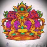 корона тату эскиз - рисунок для татуировки от 15052016 19