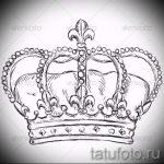 корона тату эскиз - рисунок для татуировки от 15052016 21
