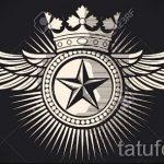 корона тату эскиз - рисунок для татуировки от 15052016 23