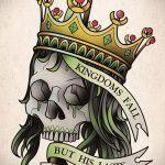корона тату эскиз - рисунок для татуировки от 15052016 26