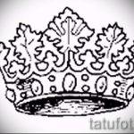 корона тату эскиз - рисунок для татуировки от 15052016 29