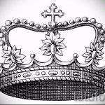 корона тату эскиз - рисунок для татуировки от 15052016 3