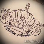 корона тату эскиз - рисунок для татуировки от 15052016 31