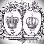 корона тату эскиз - рисунок для татуировки от 15052016 33