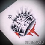 корона тату эскиз - рисунок для татуировки от 15052016 34