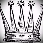 корона тату эскиз - рисунок для татуировки от 15052016 38