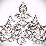 корона тату эскиз - рисунок для татуировки от 15052016 4