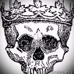 корона тату эскиз - рисунок для татуировки от 15052016 46