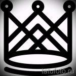 корона тату эскиз - рисунок для татуировки от 15052016 49