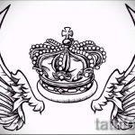 корона тату эскиз - рисунок для татуировки от 15052016 5