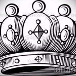 корона тату эскиз - рисунок для татуировки от 15052016 51
