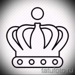 корона тату эскиз - рисунок для татуировки от 15052016 54