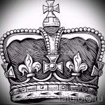 корона тату эскиз - рисунок для татуировки от 15052016 56