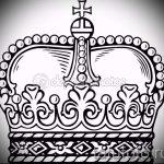 корона тату эскиз - рисунок для татуировки от 15052016 57