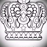 корона тату эскиз - рисунок для татуировки от 15052016 58
