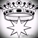 корона тату эскиз - рисунок для татуировки от 15052016 60