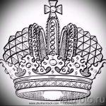 корона тату эскиз - рисунок для татуировки от 15052016 62