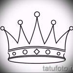 корона тату эскиз - рисунок для татуировки от 15052016 63
