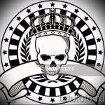 корона тату эскиз - рисунок для татуировки от 15052016 64