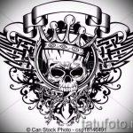 корона тату эскиз - рисунок для татуировки от 15052016 65