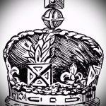 корона тату эскиз - рисунок для татуировки от 15052016 66