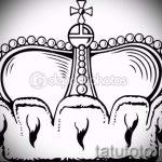 корона тату эскиз - рисунок для татуировки от 15052016 68