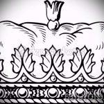 корона тату эскиз - рисунок для татуировки от 15052016 69
