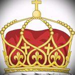 корона тату эскиз - рисунок для татуировки от 15052016 73