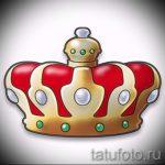 корона тату эскиз - рисунок для татуировки от 15052016 74