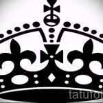 корона тату эскиз - рисунок для татуировки от 15052016 77