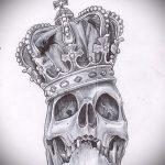 корона тату эскиз - рисунок для татуировки от 15052016 8