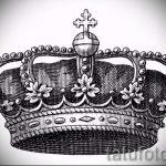 корона тату эскиз - рисунок для татуировки от 15052016 9
