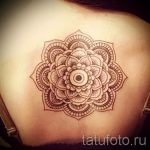 красивая мандала тату - фото пример готовой татуировки от 01052016 2