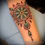 красивая мандала тату - фото пример готовой татуировки от 01052016 3