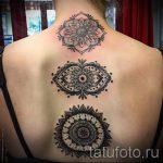 красивая мандала тату - фото пример готовой татуировки от 01052016 4